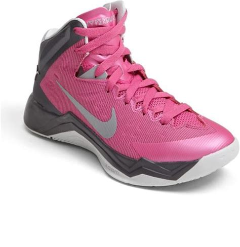 pink basketball shoes nike hyper quickness basketball shoe in pink pink silver