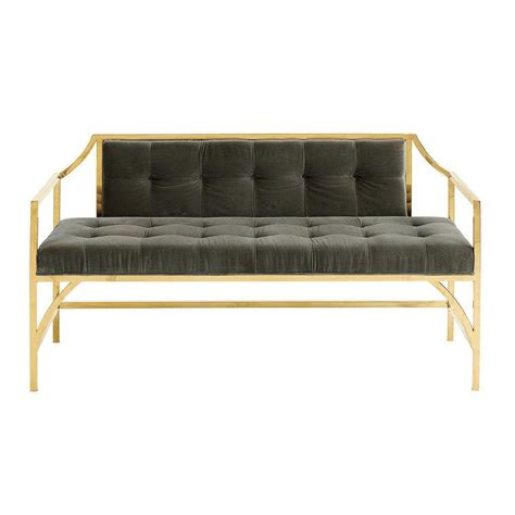 tufted velvet bench dark gray velvet tufted brass bench soapp culture