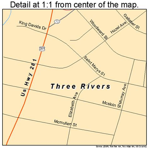 three rivers texas map three rivers texas map 4872872