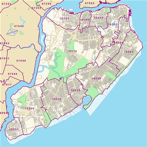 staten island map crg staten island zip code map
