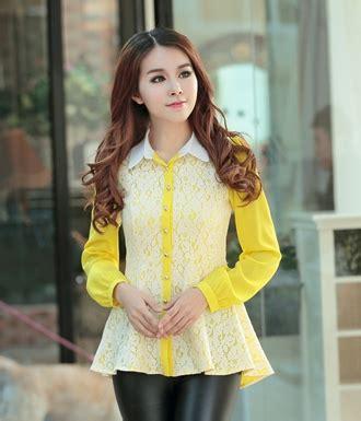 Baju Import Vk73181 On Sale Blouse kemeja lace bl2966 yellow tamochi toko baju wanita murah dan grosir fashion aksesoris korea