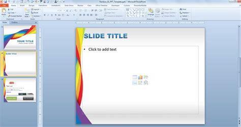 template powerpoint gratis free plantilla powerpoint con efecto arcoiris free