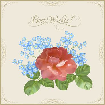 Best Wishes Card Design Templates by Flower Baskets Wishes Card Vector Free Vector In