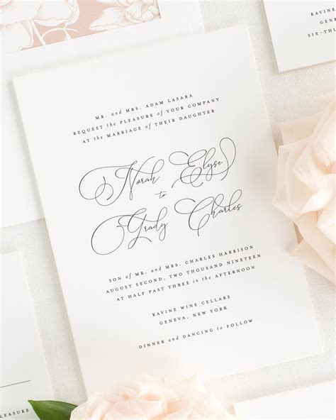 Wedding Invitation Collections by Norah Wedding Invitation Collection Shine Wedding