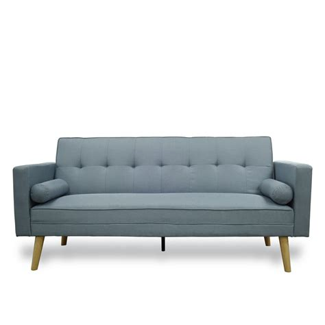 Modular Sofa Bed Brand New Blue Or Grey Fabric Click Clack Sofa Bed Modular Fold Design Ebay