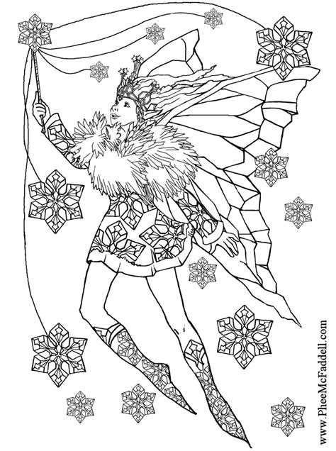 detailed fairy coloring pages for adults coloring pages
