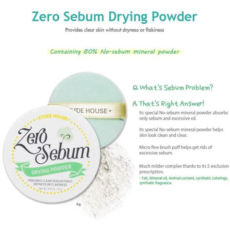 Bedak Etude House korean etude house zero sebum drying powder