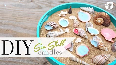 how to make decorations at home diy sea shell candle summer home decor ann le youtube