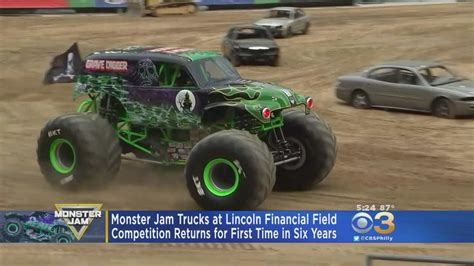 jam trucks jam trucks to lincoln financial field after