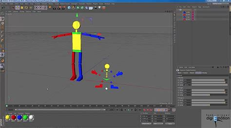 cinema 4d character template use the interaction tag as a character selector in cinema