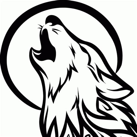 howling wolf tribal tattoo 24 simple wolf design and ideas for tattooing