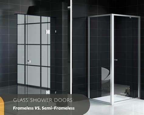 Glass Shower Doors Frameless Vs Semi Frameless Bella Vista Semi Frameless Glass Shower Doors