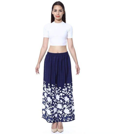 buy gracediva blue crepe maxi skirt at best prices