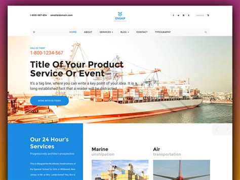 Unship Free Trucking Transportation Logistics Html Template Uicookies Logistics Website Template