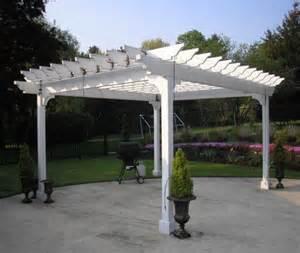Garden Treasures Pergola by Garden Treasures White Pergola With Luminous Structure