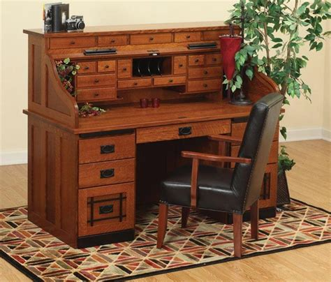 Where Can I Buy A Roll Top Desk Amish Standard Mission Roll Top Desk With Top Drawers