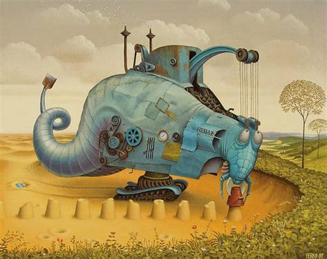 Yerka Paints Like An by Amazing Surreal Paintings By A Artist Jacek Yerka