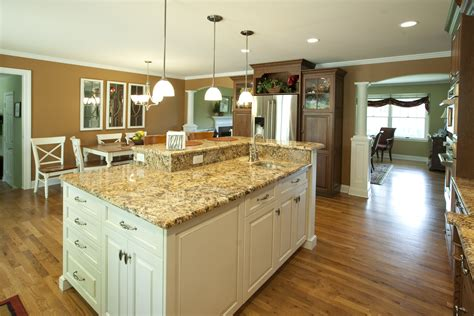 multi level kitchen island solid wood kitchen cabinets middletown nj by design line kitchens