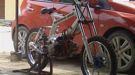 Modifikasi Supra X 125 Lingkar by Modifikasi Suzuki Smash Jadi Motor Downhill Clipzui