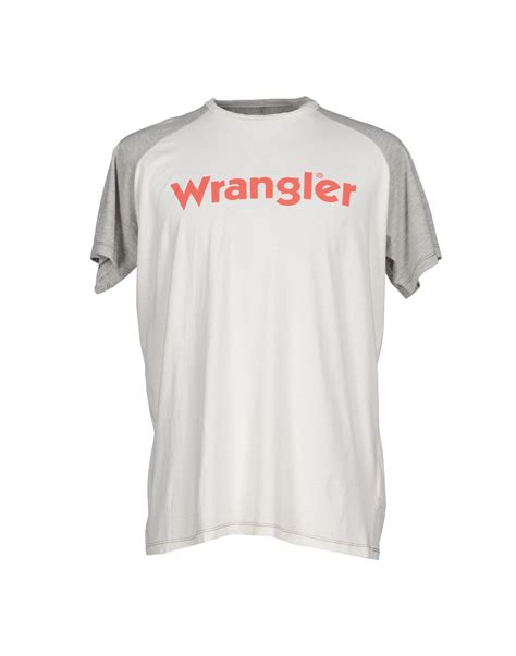 Kaos T Shirt Tshirt Wrangler lyst wrangler t shirt in white for