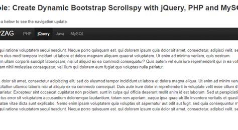 tutorial bootstrap scrollspy create dynamic bootstrap scrollspy with php mysql