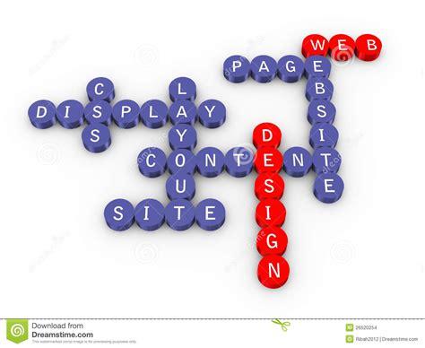 design dream up crossword web design crossword stock illustration illustration of