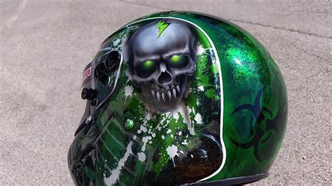 design airbrush helm ink simpson speedway rx airbrush helm broken head design youtube