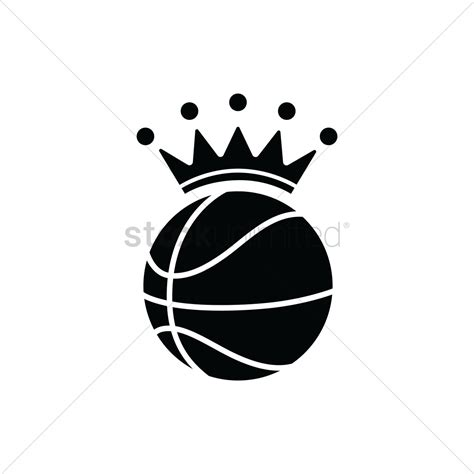 basketball clipart vector basketball with a crown vector image 1979511