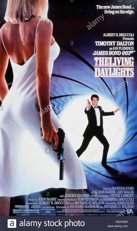 timothy dalton bond the living daylights timothy dalton film poster james bond the living