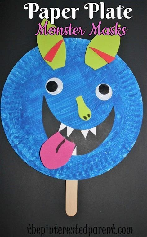 mask craft for paper plate shape masks the pinterested parent