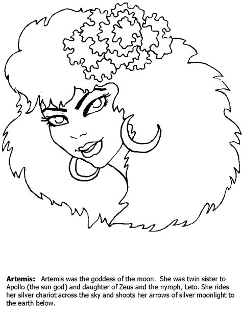 artemis colors free coloring pages of temple of artemis