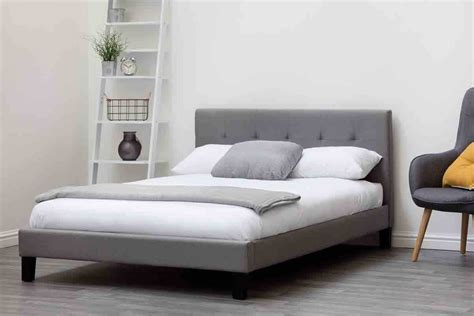 grey fabric bed frame blenheim grey charcoal fabric upholstered bed frame single