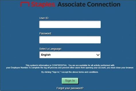 staples associate connection login    current