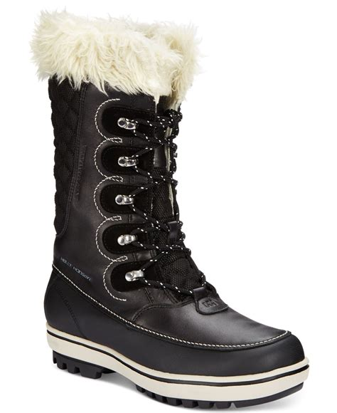 cold weather boots for helly hansen s garibaldi faux fur cold weather boots