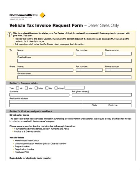 Sle Invoice Request Form 9 Exles In Word Pdf Invoice Request Template