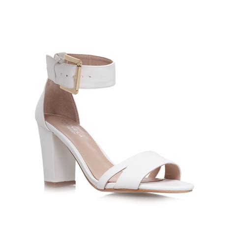 high heel sandals carvela kurt geiger high heel sandals in white lyst
