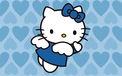 wallpaper hello kitty blue hello kitty wallpaper blue wallpaper 261422