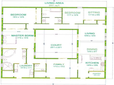 center courtyard house plans house plans with courtyard in center