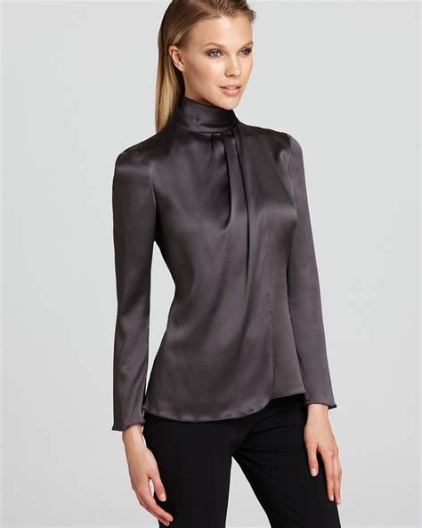 Blouse Turtle Neck armani collezioni blouse turtleneck bloomingdale s