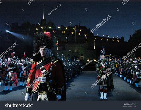 edinburgh tattoo pipes and drums pipes drums edinburgh military tattoo stock photo 1677555