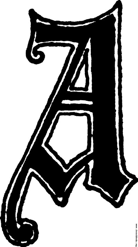Letter A Images calligraphic letter a in 15th century style