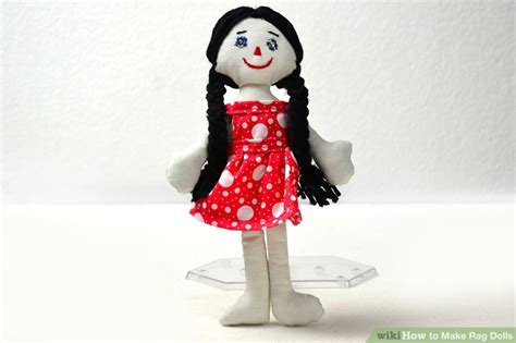rag doll how to make 3 ways to make rag dolls wikihow