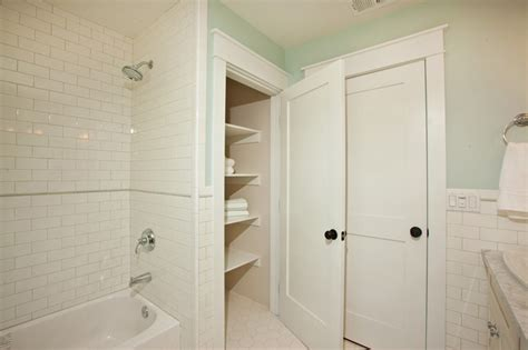 Bathroom Linen Closet Doors Craftsman Rebuild Traditional Bathroom San Diego By Development