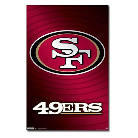 49ers Home Decor by San Francisco 49ers Logo 11 Wall Poster