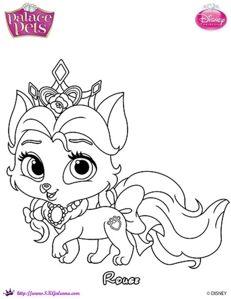 Princess Palace Pet Rouge Coloring Page By Skgaleana On Princess Palace Pets Pictures Free Coloring Sheets