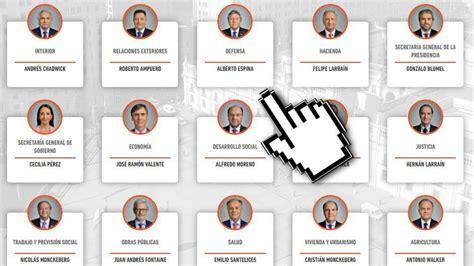 gabinete de la presidencia del gobierno interactivo los nombres del gabinete de pi 241 era tele 13
