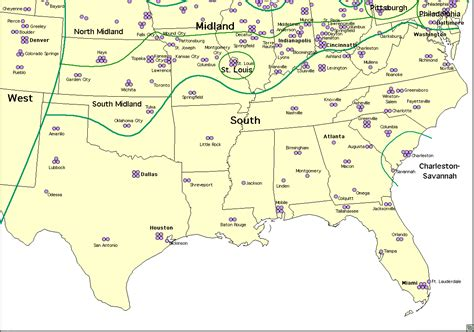 map of southern states map of southern us my