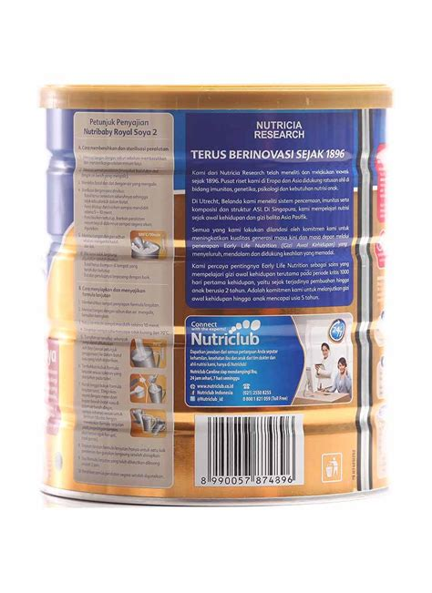 Nutribaby Royal nutricia nutribaby royal 2 soya klg 700g klikindomaret