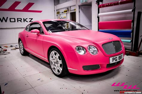 bentley car pink matte pink bentley continental gt by wrap workz hong kong