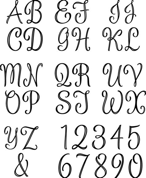 free printable alphabet letters for embroidery monogram letters template www imgkid com the image kid